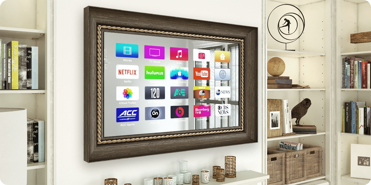 Decovue Framed Tv Displaying Its Smart Features In Hd Resolution By Evervue Usa Inc