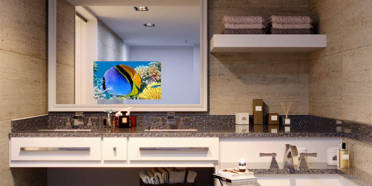 mirrorvue mirror tv evervue rh evervuetv com Bathroom Mirror with TV in It Philips Flat Screen TV Mirror