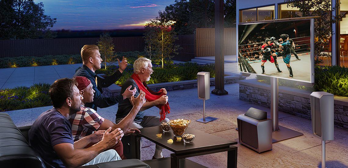 The best choice for outdoor TV is Cosmos.