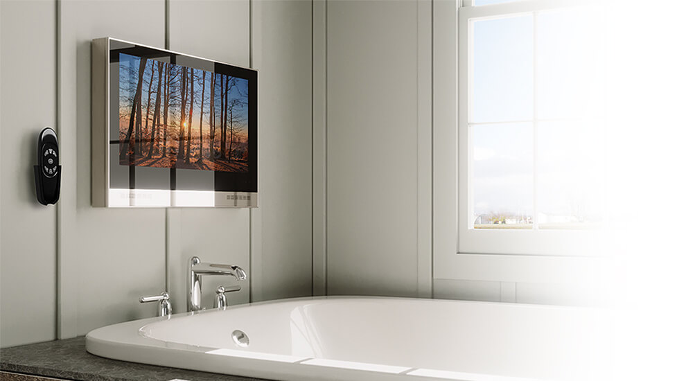 Our Ocea is the best TV for your bathroom.